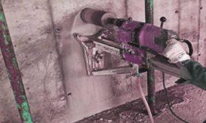 Пробиване на бетон с боркорона